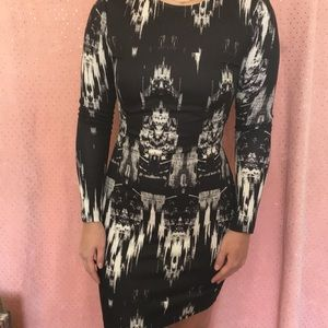H&M Dresses - Black and white fitted dress